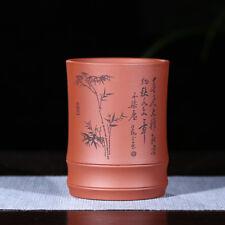 Big tea cup authentic yixing zisha teacup Brush pot pen container pencil vase