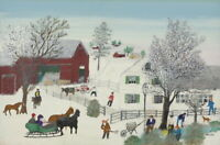 Grandma Moses Visitors Giclee Canvas Print Paintings Poster Reproduction
