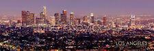 Los Angeles Skyline COLOR DUSK LA Griffith Obs 12x36 Photo Print Poster Pano