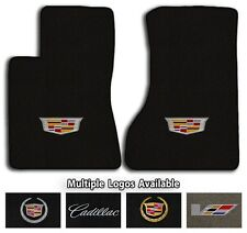 Cadillac Vehicles - Classic Loop Carpet Front Floor Mats- Choice of Color & Logo