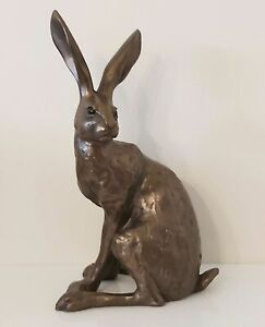 Hare Cold Cast Bronze Ornament - Howard - Frith Sculpture NEW
