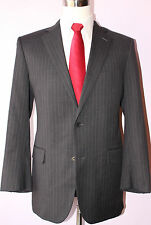 Brooks Brothers Gray Striped Wool Two Button Mens Suit 41 R Jacket 36 31 Pants