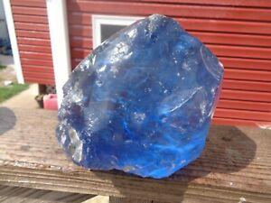 Glass Rock Slag Clear Sapphire Blue 12.8 lbs B39 Rocks Landscaping Aquariu