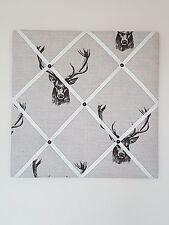 Handmade Vintage Retro Stag Head Deer Fryetts Message Memo Pin Notice Board Chic