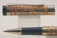 Jinhao No. 5000 Lacquered Yellow with Dragon Gold Plated Overlay Rollerball Pen