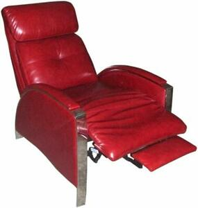 Barcalounger Horizon II Genuine Leather Recliner Lounger Chair - Stargo Red
