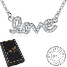 LOVE Kette Halskette 925 Sterling Silber Damen +Etui, Schmuckhandel Haak®
