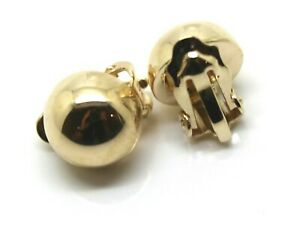 Kaedesigns New 9ct Yellow Gold Clip On  10mm Half Ball Earrings
