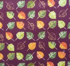 Autumn Leaves Burgundy Nature Seasons Fabric Sewing Quilting Craft FQ or Metre