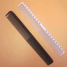 2x Salon Barber Hairdressing Carbon Antistatic Cutting Comb Black & White 21.5cm
