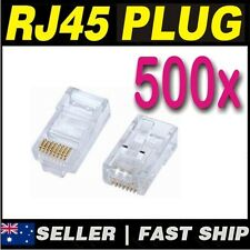 100 x Clear RJ45 CAT5 CAT5E CAT6 Modular Plug Network Connector Broadband ADSL 2