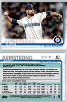 2019 Topps Series 2 SHAWN ARMSTRONG Advanced Stat /150 Parallel Mariners #517