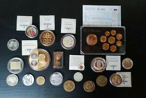 Konvolut - Medaillen - mit echt Gold und Silber - DM - Lot