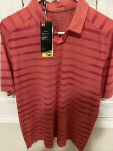 Under Armour Iso-Chill CoralPink Golf Polo Men's SZ Large NWT 2021 UM0887 Speith