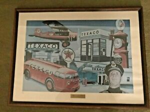 "TEXACO NUMBERED PRINT, PERIOD WINNER, ""BUILDING TOMORROW TOGETHER"""