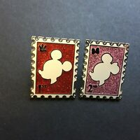 Mickey and Minnie Mouse Stamps - 2 Pin Set - FANTASY Disney Pin 0