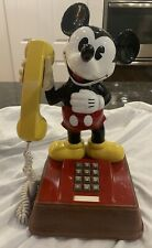 "Mickey Mouse Phone Push Button Telephone Disney 15"" Vintage?"