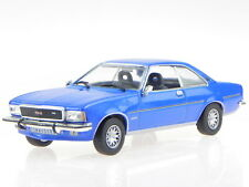 Opel Commodore B GS/E blue diecast modelcar in showcase 1:43