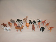 19 Small Variety of Plastic Animals ~ Mostly Wild Cats