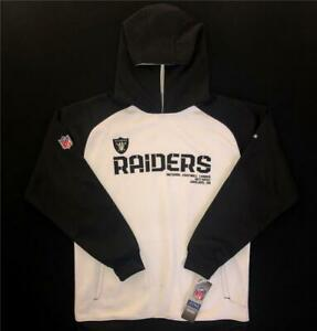 Reebok NFL Apparel Oakland Raiders on field Hoodie Youth Large L ~ New with Tags