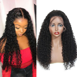 "20"" Afro Kinky Curly Wig 13x4 Lace Front Wig 10A Brazilian Human Hair Curly Wigs"