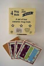 4 Ceramic Tiles Coasters Mug Mats