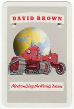 Playing Cards 1 Swap Card - Old Vintage DAVID BROWN Tractors Tractor EARTH 2