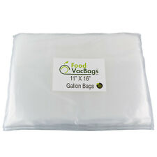 100 GALLON Embossed 11x16 Food Storage Vacuum Sealer Bags for FoodSaver machines