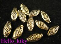 60pcs Antiqued gold plt crafted pot spacer beads A589