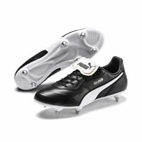 Puma King TOP SG Soft Ground Mens Football Soccer Boots Cleats Black White