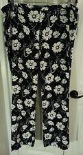 Lauren 16w Plus Black and White Floral Pants Retail $129 NWT!!!