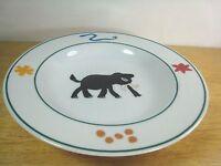 "IDG Pottery Barn Safari Rimmed Soup Bowl ELEPHANT 8 5/8 "" Shapes Snake Rare HTF"