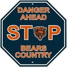 Chicago Bears NFL Stop Sign Room Bar Decor Decoration Football
