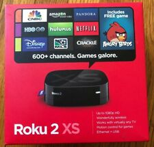 Roku 2 XS Model 3100R Streaming Player Wireless 1080HD Remote, Adapter & Manual