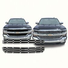 Chrome Grille Overlay FITS 2016 2017 2018 Chevy Silverado 1500 WT / LS / LT