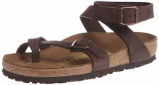 BIRKENSTOCK YARA HABANA LEATHER WOMEN'S SANDALS THONG FLIP FLOPS BROWN GLADIATOR