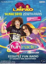 Publicité advertising 2011 Concert LMFAO avec Radio Fun Radio
