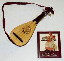 FELICITY'S GUITAR~MANDOLIN! 1ST EDITION PLEASANT COMPANY~BURGUNDY~AMERICAN GIRL