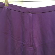 Diane Von Furstenberg Silk Assets Straight Skirt 1X Purple