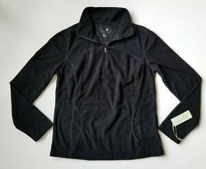 TANGERINE Women's Black Sweater Size Medium M Jacket Kangaroo Pocket 1/4 Zip