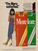 1980 More Cigarettes I'm More Satisfied Vintage Color Photo Print Ad
