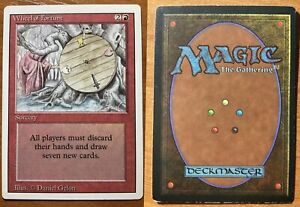 MTG GAME 1x WHEEL OF FORTUNE REVISED EDITION - EXCELLENT / GOOD CONDITION