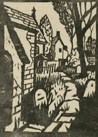 Richard Ian Bentham Walker (1925-2009) - 20th Century Linoprint, Church Yard