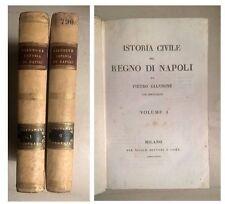 ISTORIA CIVILE DEL REGNO DI NAPOLI DI PIETRO GIANNONE BETTONI 1833 2 VOLUMI