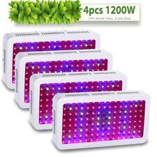4PCS 1200W Watt LED Grow Light Panel Lamp for Plants Hydroponics Full Spectrum