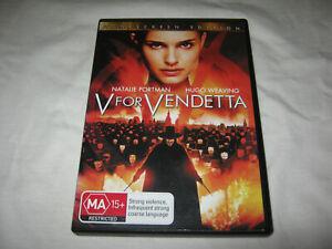 V For Vendetta - Hugo Weaving - VGC - DVD - R4