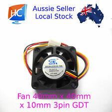 Case Fan 12V 40mm x 40mm x 10mm Brushless PC Fan cooler 3 pin GDT- Aussie Seller