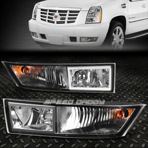 FOR 07-14 CADILLAC ESCALADE EXT ESV CLEAR LENS BUMPER DRIVING FOG LIGHT LAMPS