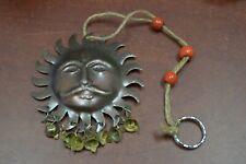 "Handmade Hindu Sun God Rusty Metal Iron Bells 3 1/2"" #S18"
