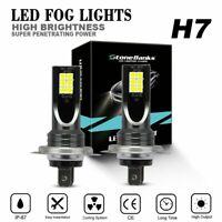 H7 Car LED Fog lights 80W Headlight Bulbs Kit 6000k HID Decoder Fog Bulbs